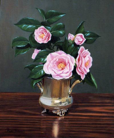Pink Camellias 50cmx40cm
